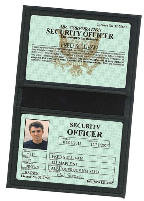 Security Officer Classic Folio in Case