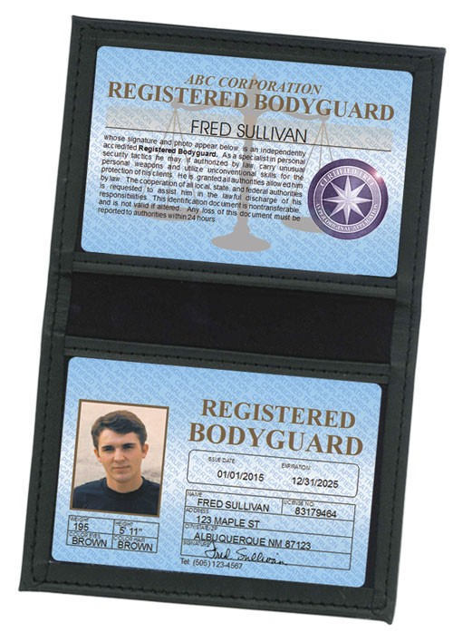 Registered Bodyguard Standard Folio in Case