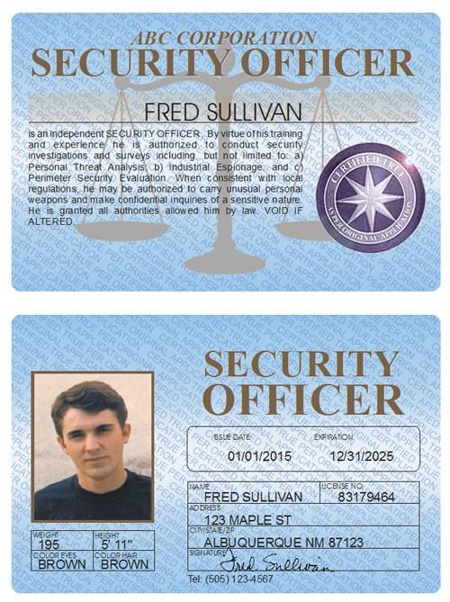 Security Officer Standard Folio