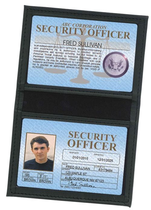 Security Officer Standard Folio in Case