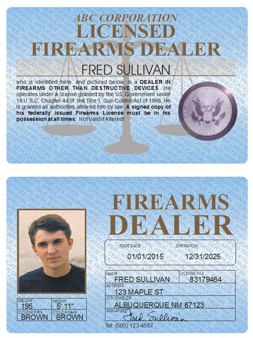 Firearms Dealer Standard Folio