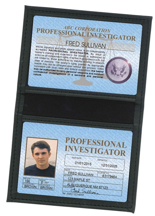 Professional Investigator Standard Folio in Case