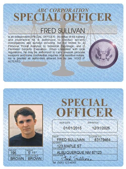 Special Officer Standard Folio