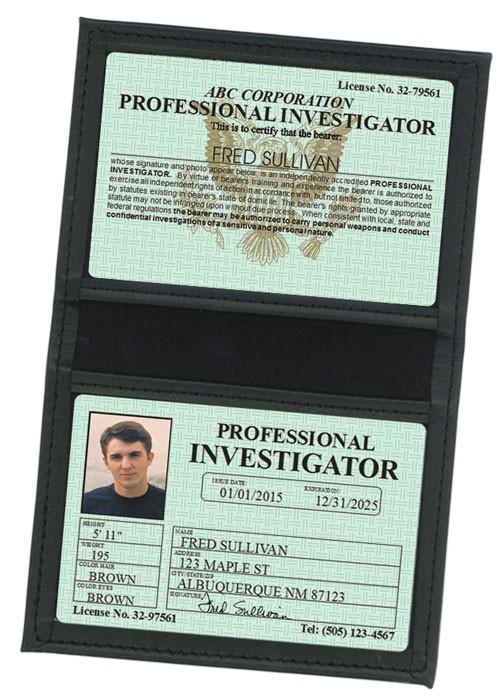 Professional Investigator Classic Folio in Case