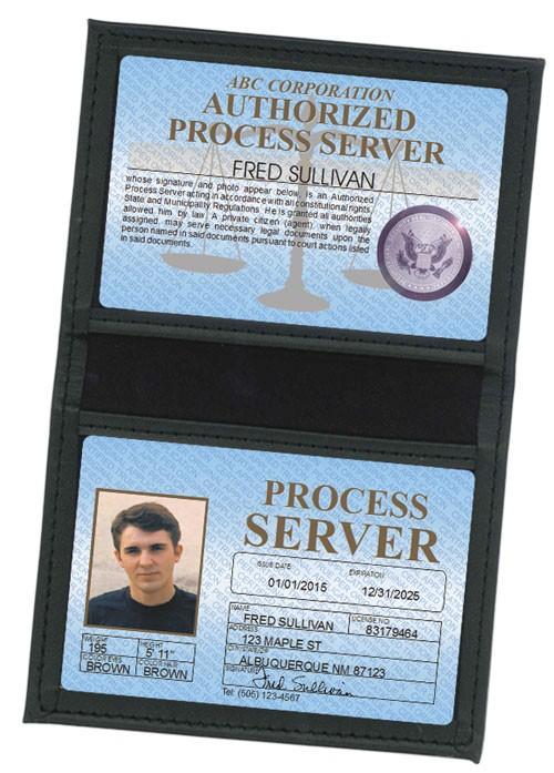 Process Server Standard Folio in Case