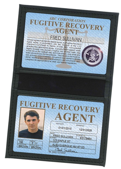 Fugitive Recovery Agent Standard Folio in Case