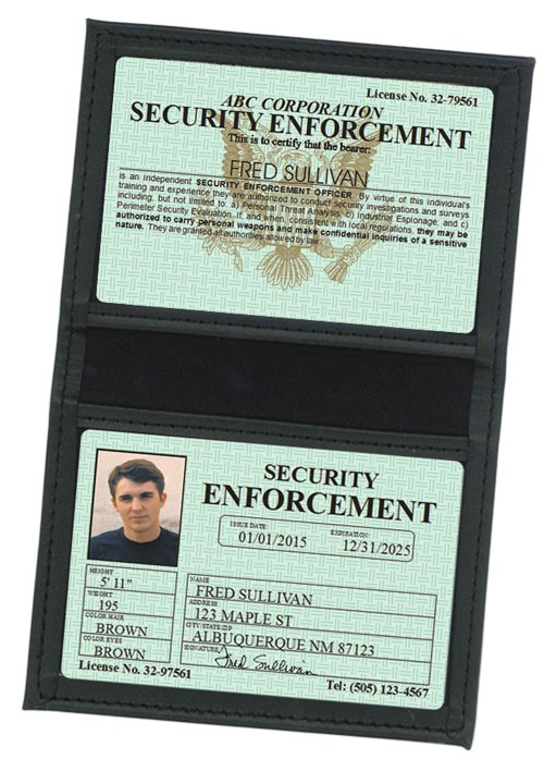 Security Enforcement Classic Folio in Case