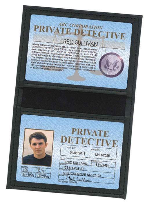 Private Detective Standard Folio in Case
