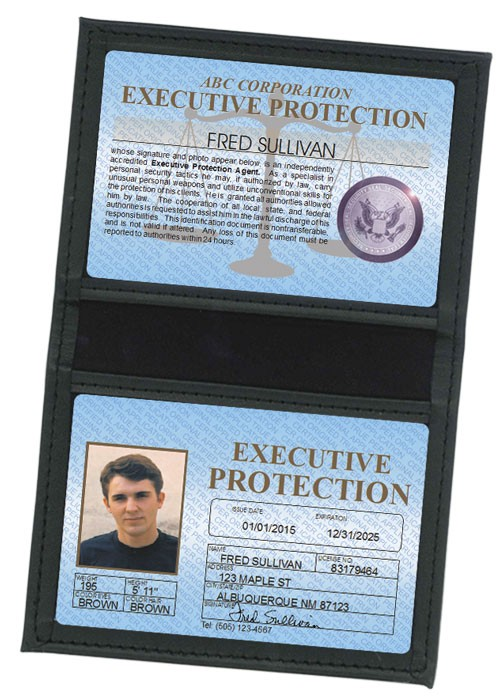 Executive Protection Standard Folio in Case