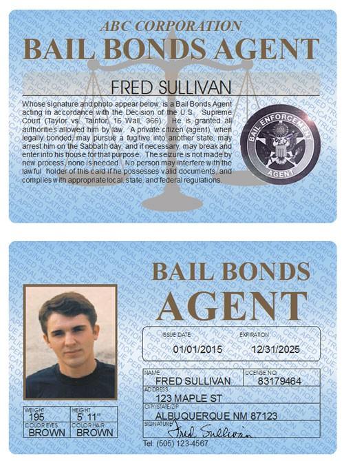 Bail Bonds Agent Standard Folio
