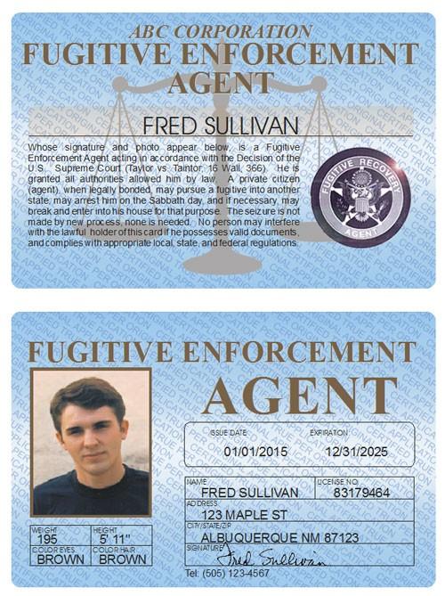 Fugitive Enforcement Agent Standard Folio