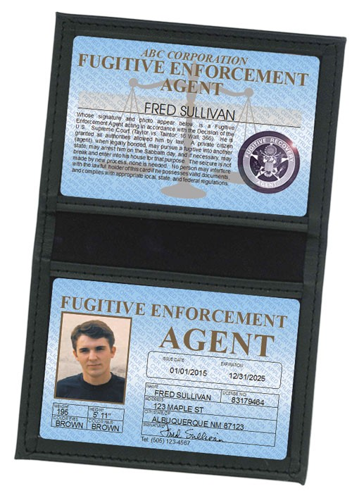 Fugitive Enforcement Agent Standard Folio in Case