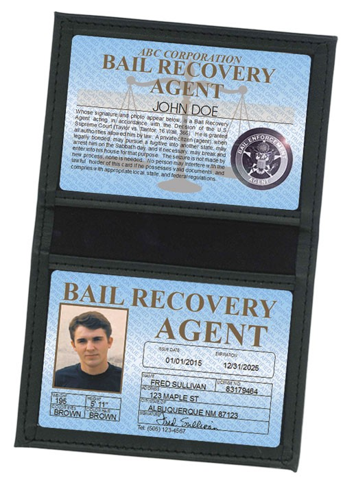 Bail Recovery Agent Standard Folio in Case