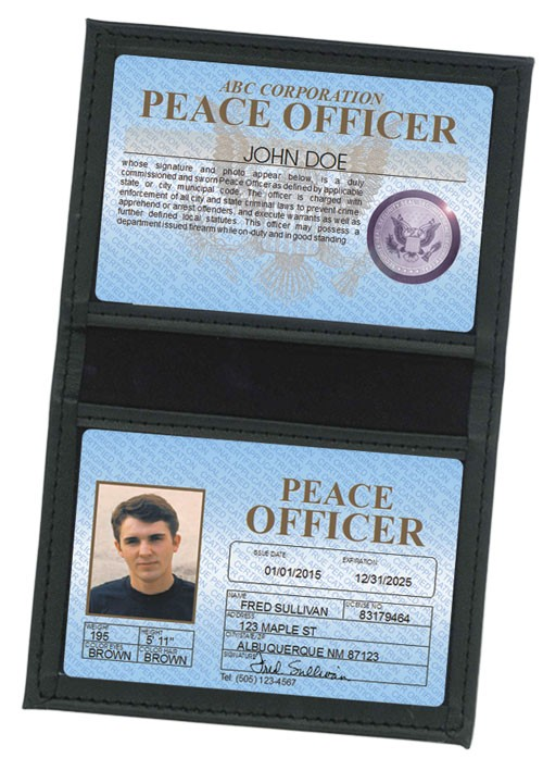 Peace Officer Standard Folio in Case