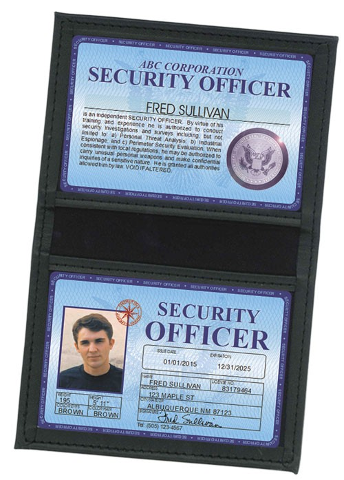Security Officer Deluxe Folio in Case