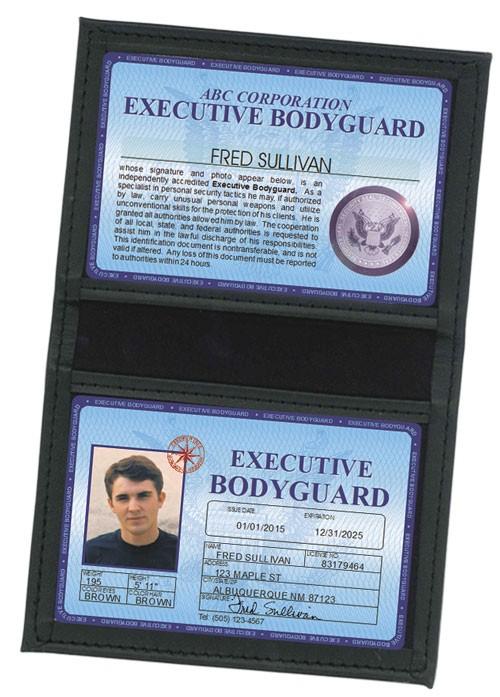 Executive Bodyguard Deluxe Folio in Case