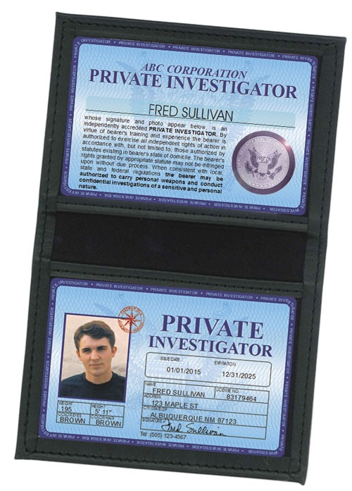 Private Investigator Deluxe Folio in Case