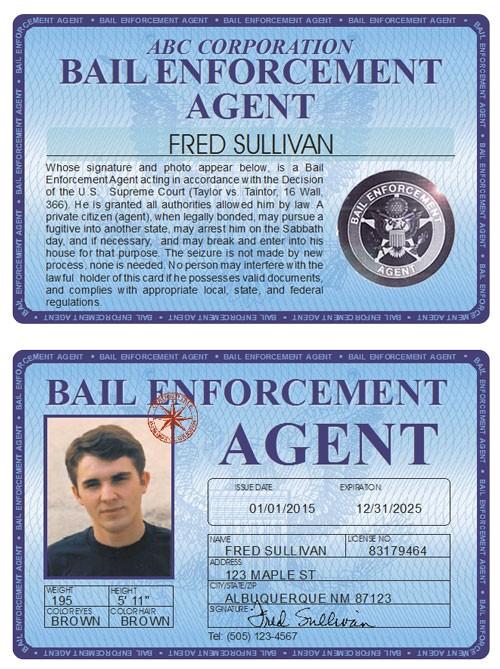 Bail Enforcement Agent Deluxe Folio
