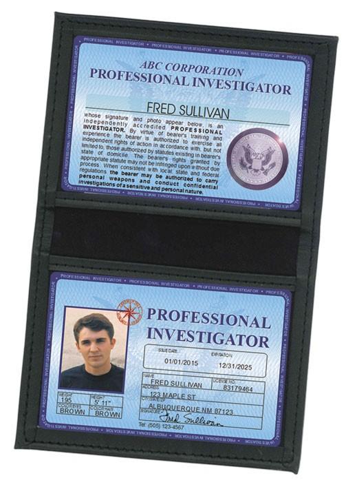 Professional Investigator Deluxe Folio in Case