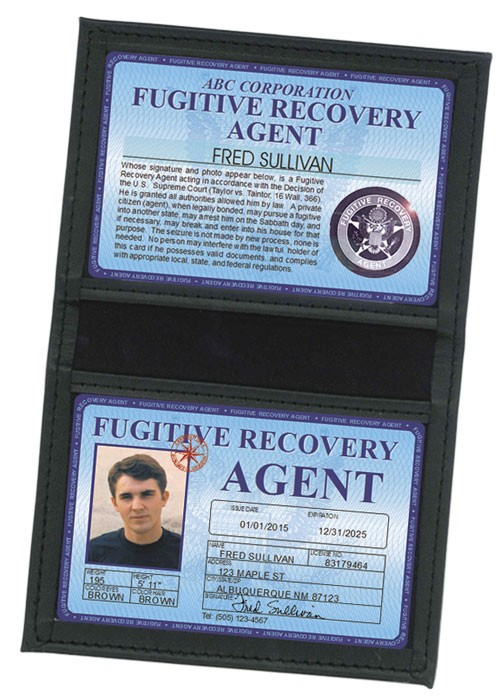 Fugitive Recovery Agent Deluxe Folio in Case