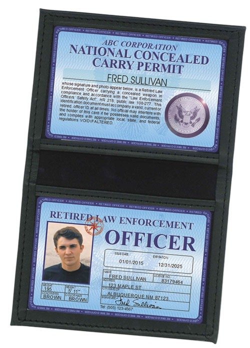 Retired LEO Concealed Carry Permit Deluxe Folio in Case