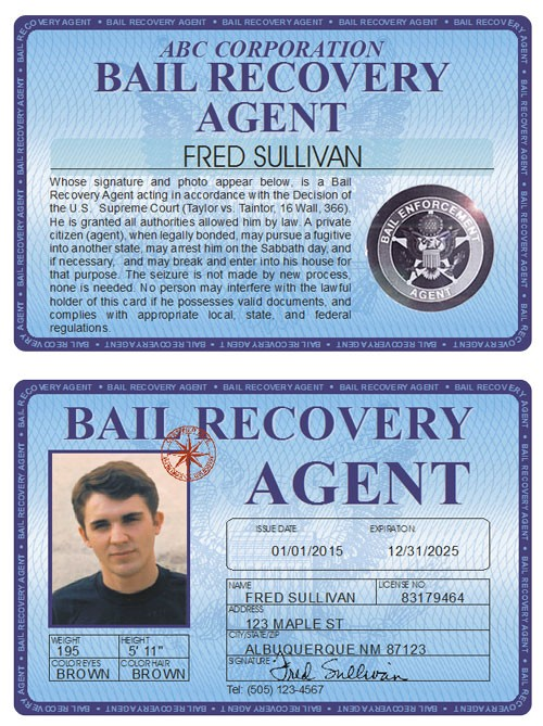 Bail Recovery Agent Deluxe Folio
