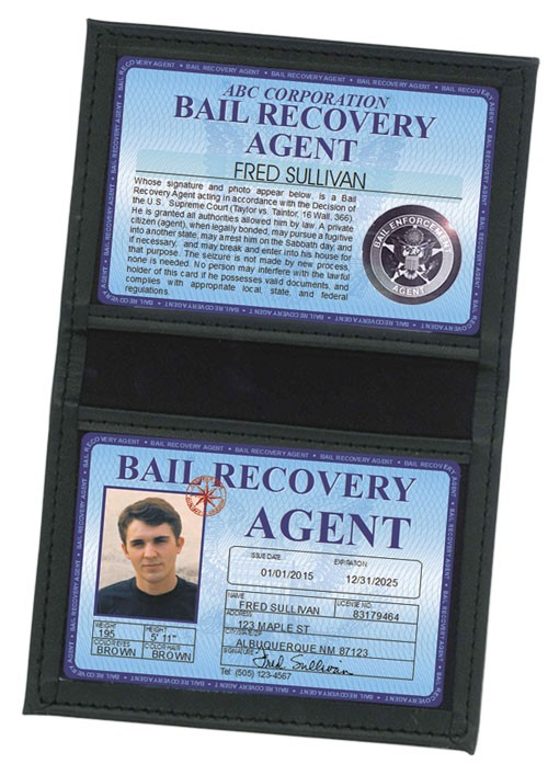 Bail Recovery Agent Deluxe Folio in Case
