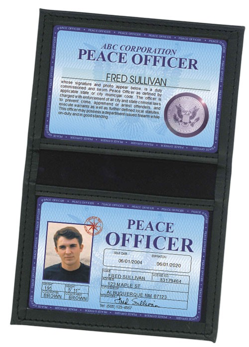 Peace Officer Deluxe Folio in Case