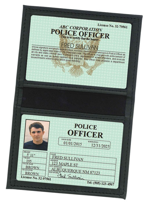 Police Officer Classic Folio in Case