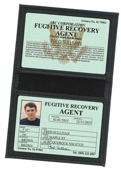 Fugitive Recovery Agent Classic Folio in Case