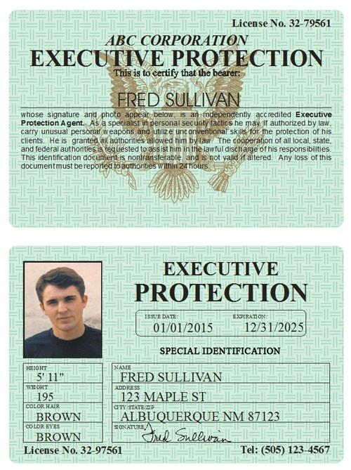 Executive Protection Classic Folio
