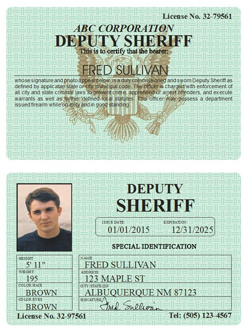 Deputy Sheriff Classic Folio