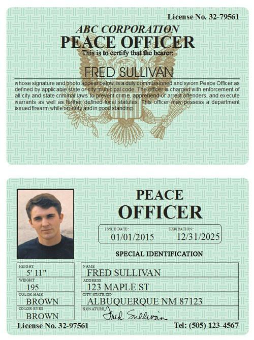 Peace Officer Classic Folio