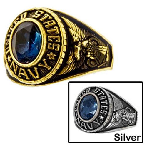 Women's Navy Military Ring