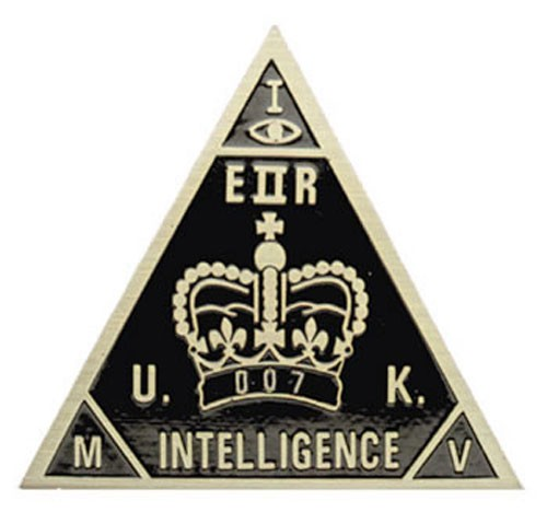 British Intelligence Agent 007 Badge