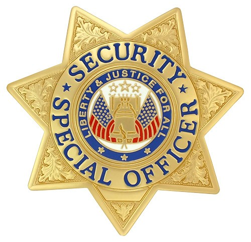 Security Special Officer Badge Gold
