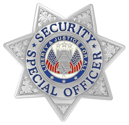 Security Special Officer Badge Silver