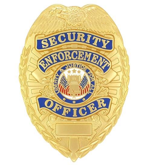 Security Enforcement Officer Badge Gold