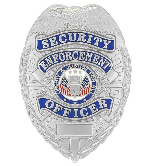 Security Enforcement Officer Badge Silver