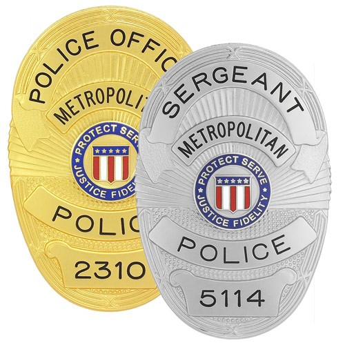 Metro Police Semi Custom Badge