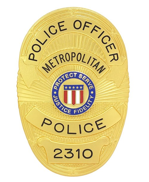 Metro Police Badge (Gold)