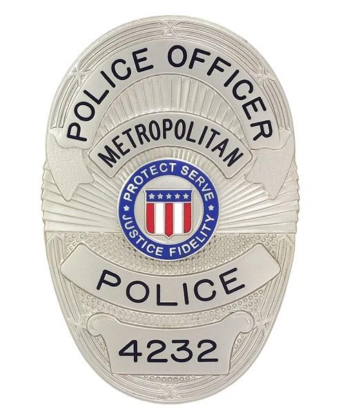 Metro Police Badge (Nickel)
