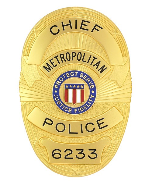 Metro Police Badge (Chief)