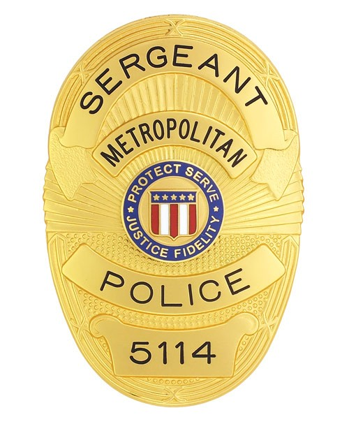 Metro Police Badge (Sergeant)