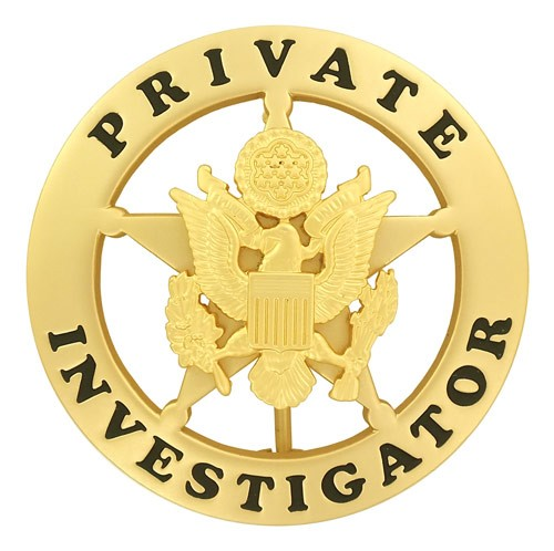 Private Investigator Badge (Gold)