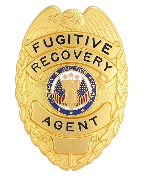 Fugitive Recovery Agent Eagle Top Badge