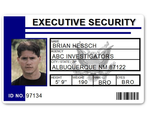 Executive Security PVC ID Card PFP023 in Blue