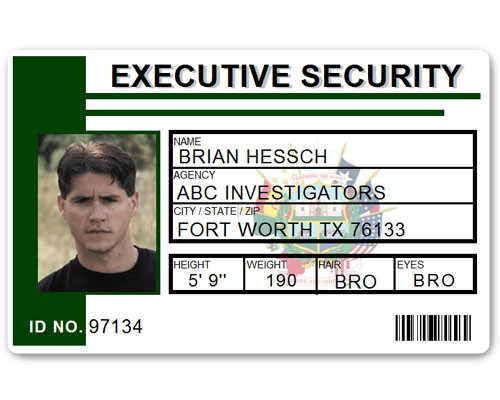 Executive Security PVC ID Card PFP023 in Green