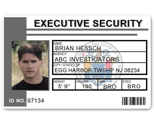 Executive Security PVC ID Card PFP023 in Grey