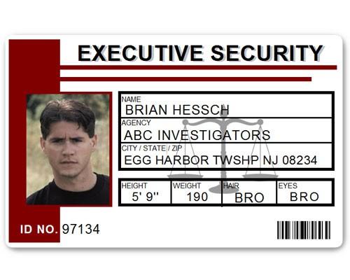 Executive Security PVC ID Card PFP023 in Maroon